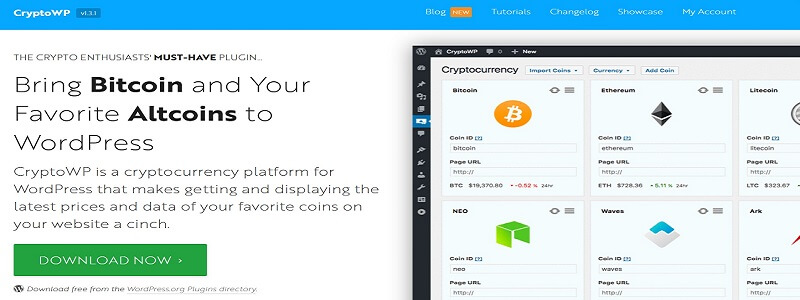 Cryptocurrency WordPress plugin
